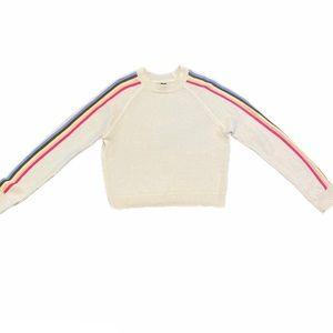 Rue 21 Rainbow Sleeve Crewneck Sweater